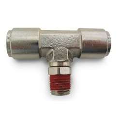 "Branch Tee- Male 1/4"" NPT x 3/8"" Tube"